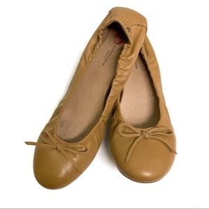 Blondo Bettina Leather Ballet Flat Camel